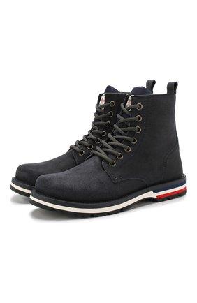 Мужские замшевые ботинки new vancouver на шнуровке MONCLER серого цвета, арт. D2-09A-10162-00-01721 | Фото 1