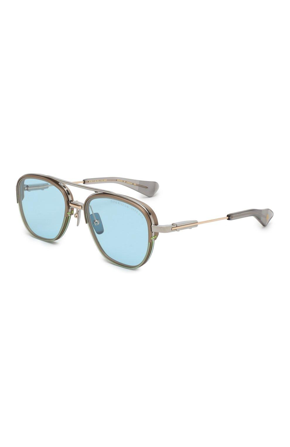Мужские солнцезащитные очки DITA голубого цвета, арт. RIKT0N-TYPE 402/02 | Фото 1