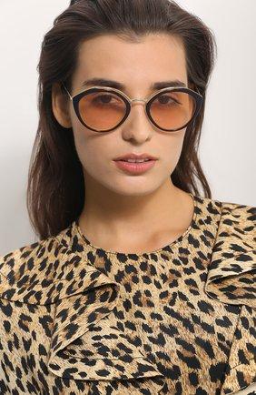 Женские солнцезащитные очки PRADA черного цвета, арт. 18US-WU0232 | Фото 2