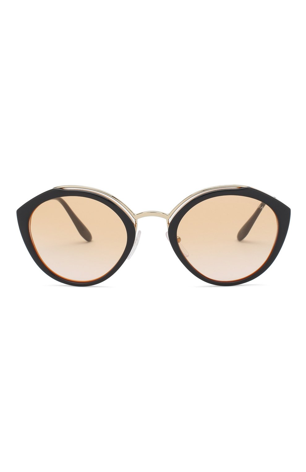 Женские солнцезащитные очки PRADA черного цвета, арт. 18US-WU0232 | Фото 3
