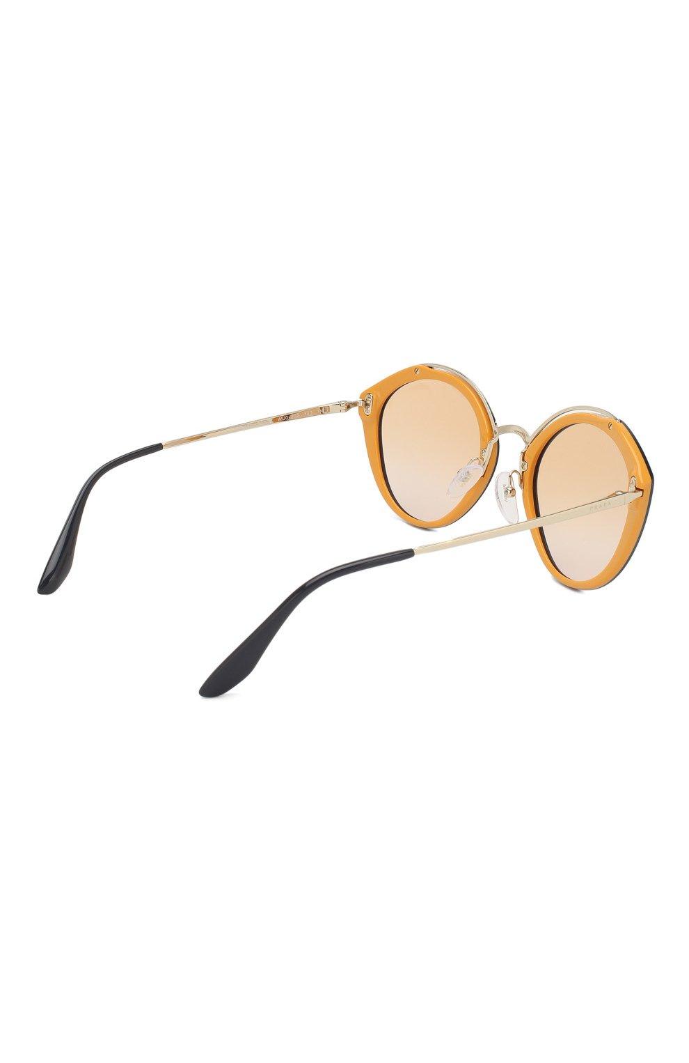 Женские солнцезащитные очки PRADA черного цвета, арт. 18US-WU0232 | Фото 4