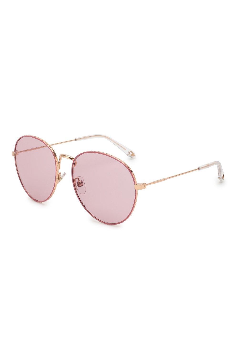 Женские солнцезащитные очки GIVENCHY розового цвета, арт. 7089 EYR | Фото 1