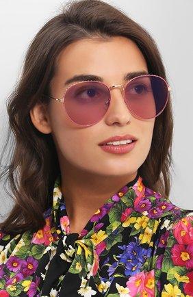 Женские солнцезащитные очки GIVENCHY розового цвета, арт. 7089 EYR | Фото 2