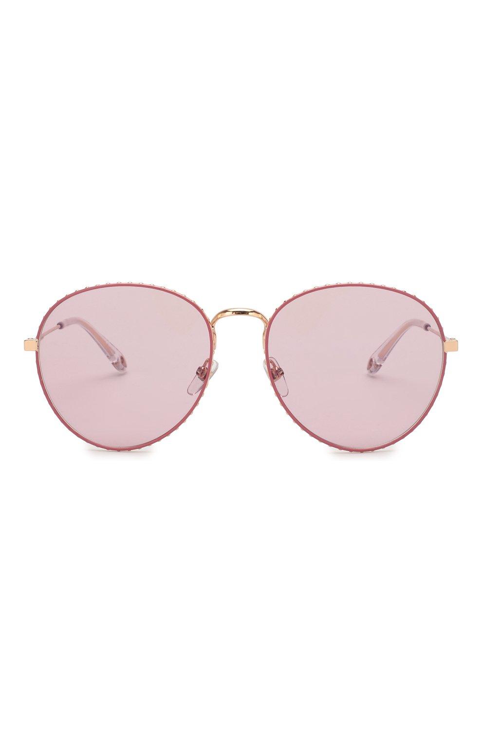Женские солнцезащитные очки GIVENCHY розового цвета, арт. 7089 EYR | Фото 3
