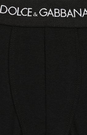 Детские комплект из двух хлопковых трусов DOLCE & GABBANA черного цвета, арт. L4J701/G70CT   Фото 3