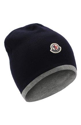 Детского шерстяная шапка MONCLER ENFANT синего цвета, арт. D2-954-99205-05-969BM | Фото 1