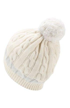 Детского кашемировая шапка MONCLER ENFANT белого цвета, арт. D2-954-99217-05-999DY | Фото 2