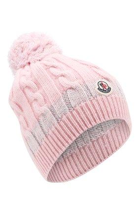 Детского кашемировая шапка MONCLER ENFANT розового цвета, арт. D2-954-99217-05-999DY | Фото 1