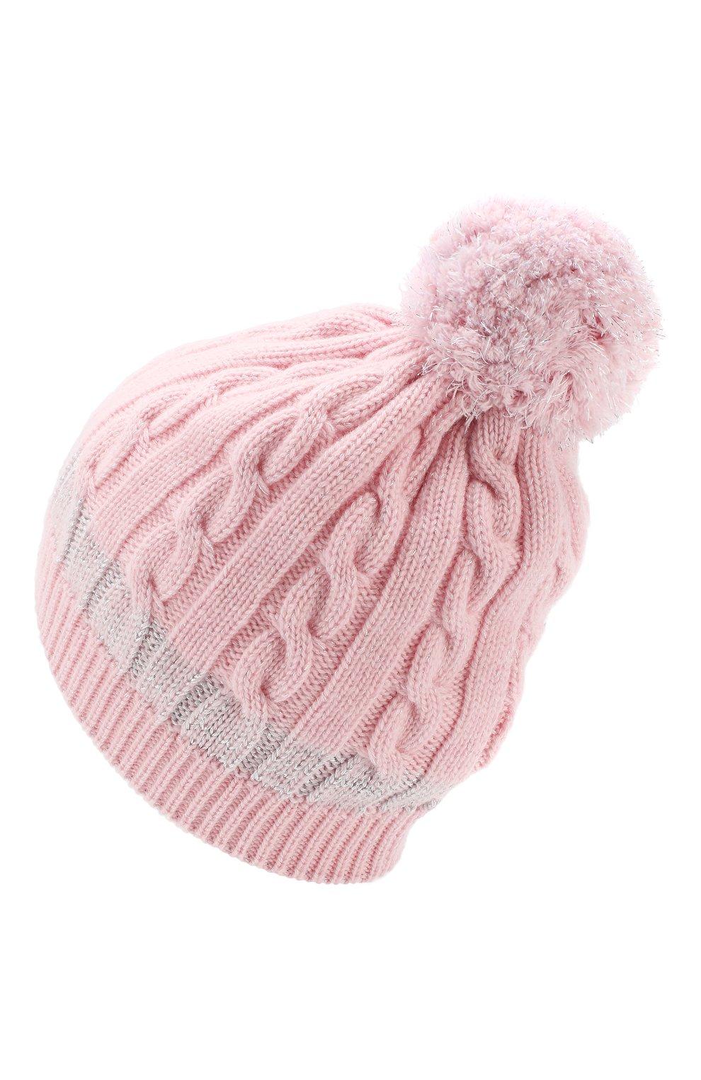 Детского кашемировая шапка MONCLER ENFANT розового цвета, арт. D2-954-99217-05-999DY | Фото 2