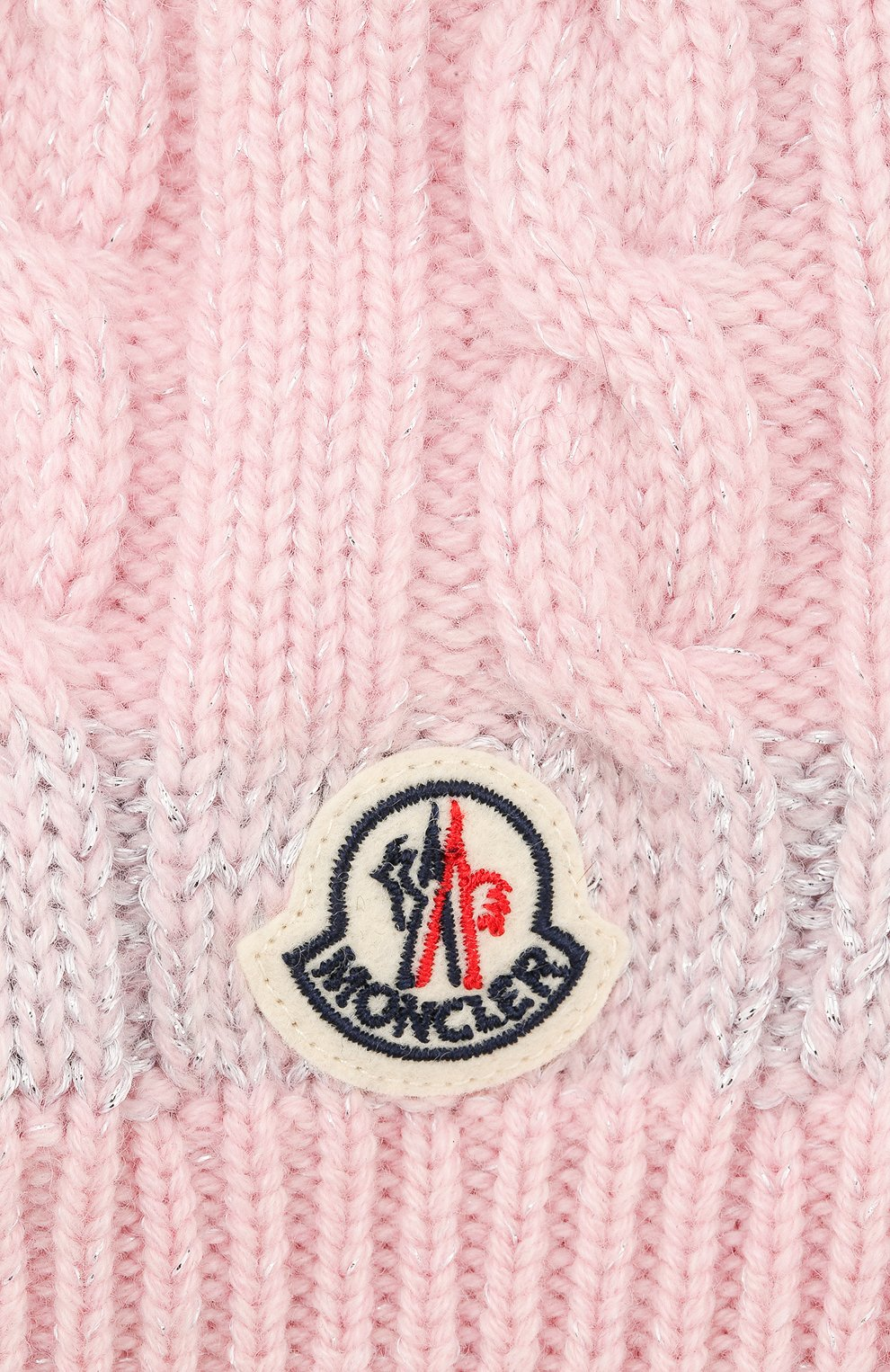 Детского кашемировая шапка MONCLER ENFANT розового цвета, арт. D2-954-99217-05-999DY | Фото 3