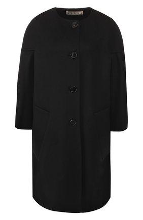 Женское пальто из смеси шерсти и кашемира MARNI черного цвета, арт. CPMA0023K0/TW840 | Фото 1