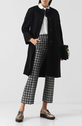 Женское пальто из смеси шерсти и кашемира MARNI черного цвета, арт. CPMA0023K0/TW840 | Фото 2