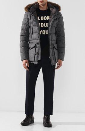 Пуховая куртка Rethe на молнии с меховой отделкой капюшона | Фото №2