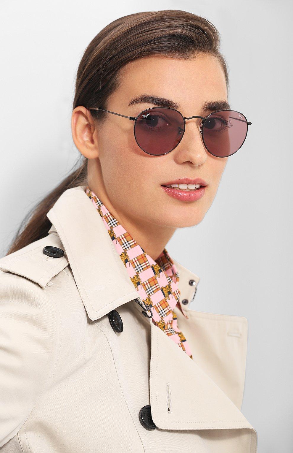 Солнцезащитные очки Ray-Ban розовые | Фото №2