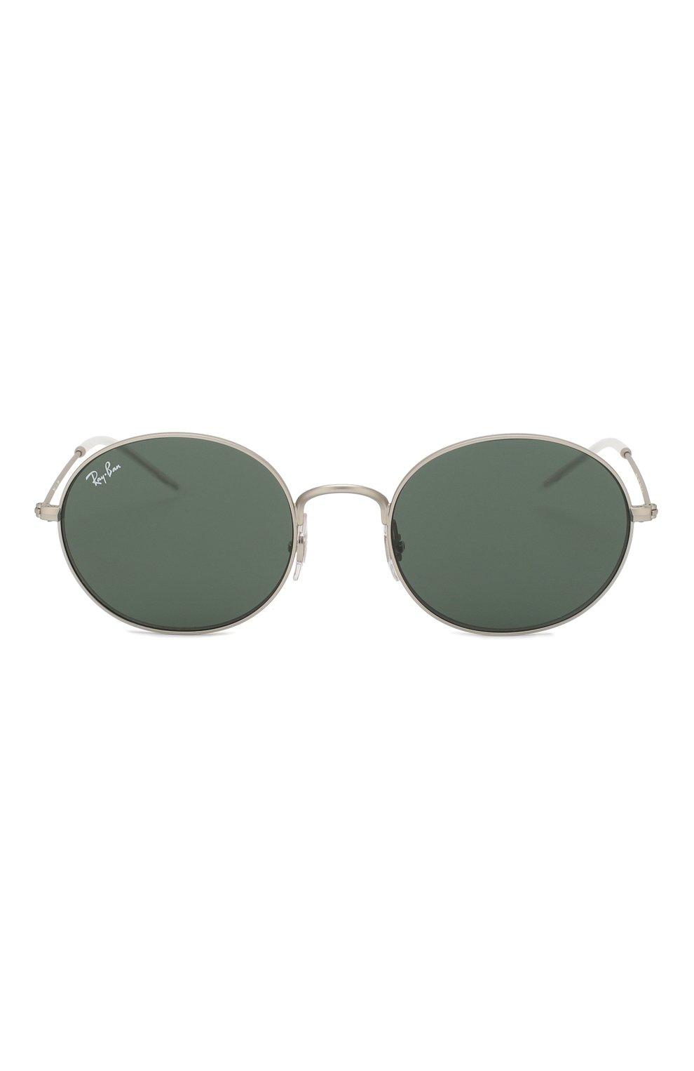 Мужские солнцезащитные очки RAY-BAN серебряного цвета, арт. 3594-911671   Фото 2 (Тип очков: С/з; Статус проверки: Требуются правки, Проверена категория; Очки форма: Овальные; Оптика Гендер: оптика-унисекс)