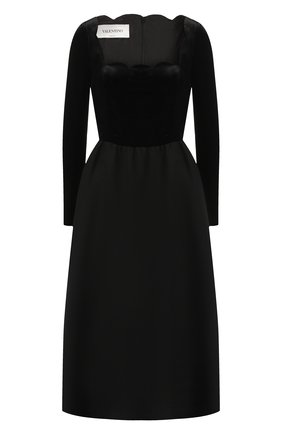Приталенное платье из смеси шерсти и шелка   Фото №1