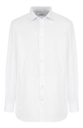Мужская хлопковая сорочка с воротником кент ZILLI белого цвета, арт. MFQ-00601-01218/RZ02 | Фото 1
