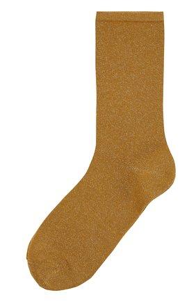 Женские носки с металлизированной нитью ROYALTIES бронзового цвета, арт. 0LIVIA/ACACIA | Фото 1