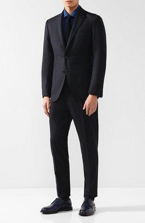 Однобортный пиджак из шерсти Windsor темно-синий | Фото №1