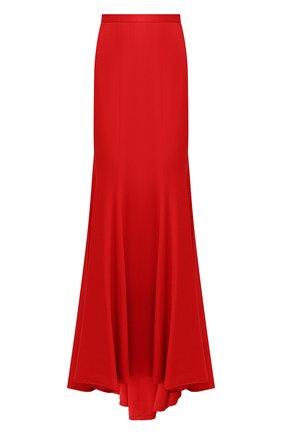 Однотонная юбка-макси на молнии | Фото №1