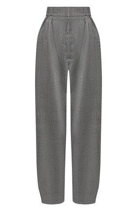 Укороченные шерстяные брюки Roland Mouret серые   Фото №1