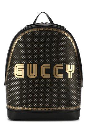 Кожаный рюкзак Guccy с декоративной отделкой | Фото №1