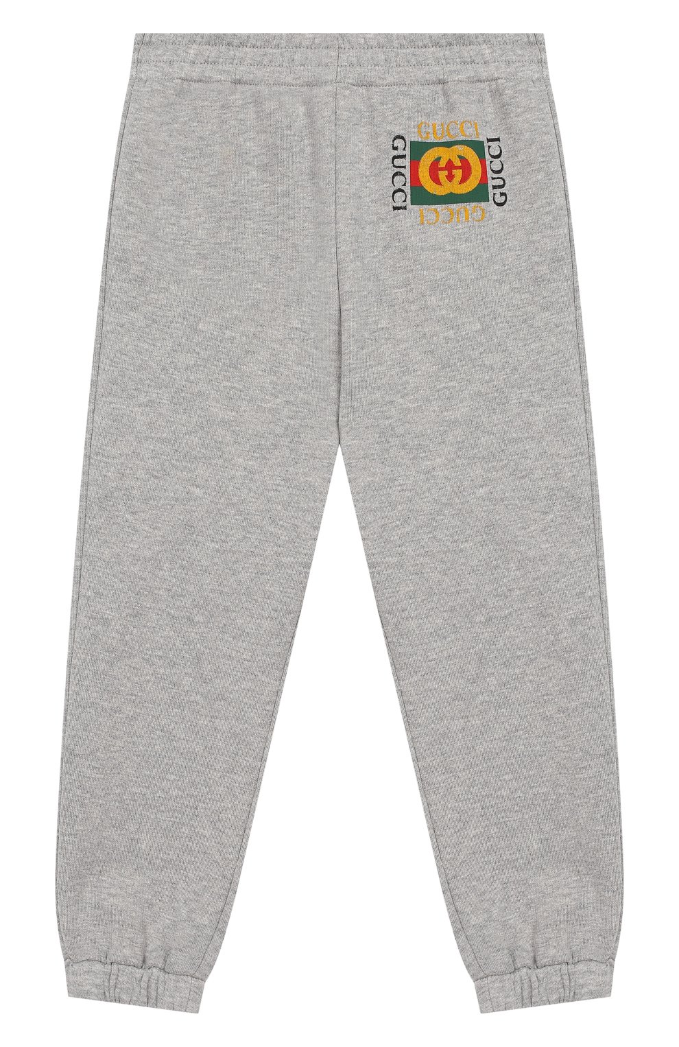 Детские хлопковые джоггеры с логотипом бренда GUCCI серого цвета, арт. 503867/X3L00   Фото 1