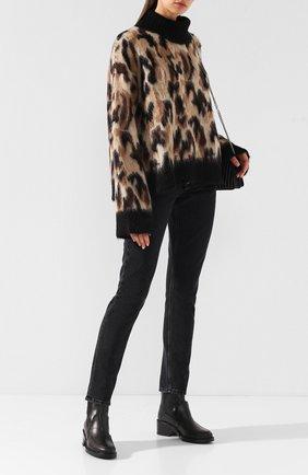 Пуловер с принтом и высоким воротником By Malene Birger разноцветный   Фото №1