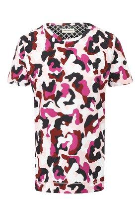 Хлопковая футболка с принтом By Malene Birger разноцветная   Фото №1
