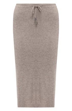 Юбка-карандаш из смеси шерсти и кашемира Max&Moi светло-голубая | Фото №1