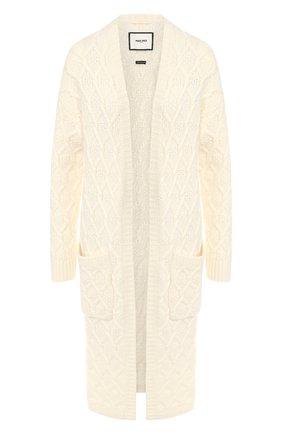 Кашемировый кардиган с накладными карманами Max&Moi белого цвета | Фото №1