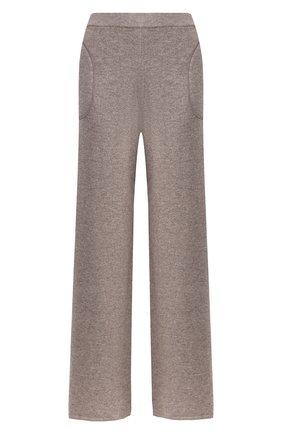 Кашемировые брюки с эластичным поясом Max&Moi бежевые | Фото №1