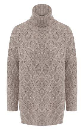 Кашемировый пуловер с высоким воротником Max&Moi белый | Фото №1
