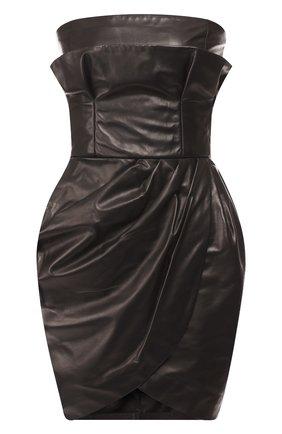 Кожаное мини-платье | Фото №1