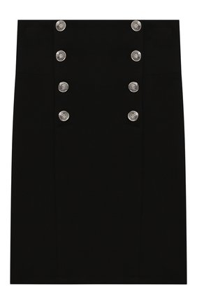 Детская юбка с декоративными пуговицами DAN MARALEX черного цвета, арт. 2439330 | Фото 1