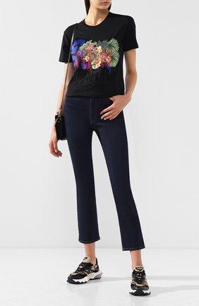 Хлопковая футболка с принтом Versus Versace разноцветная   Фото №1