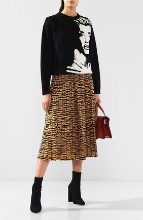 Пуловер из смеси шерсти и кашемира Tak.Ori черно-белый | Фото №1