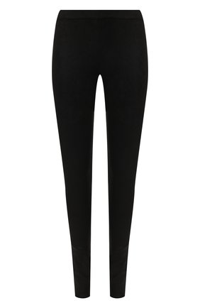 Женские кожаные брюки-скинни ISABEL BENENATO черного цвета, арт. DL04F18 | Фото 1