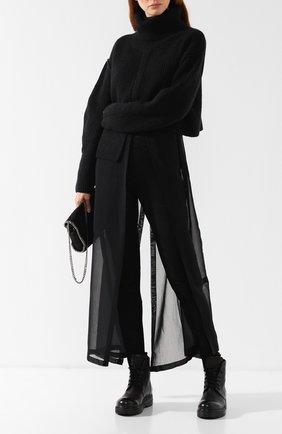 Женские кожаные брюки-скинни ISABEL BENENATO черного цвета, арт. DL04F18 | Фото 2