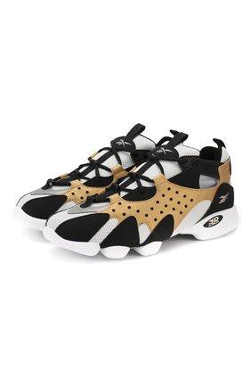 Комбинированные кроссовки 3D OP. 98 на шнуровке Reebok зеленые   Фото №1