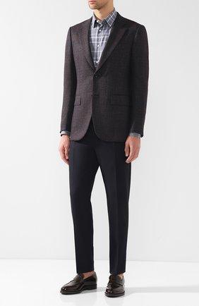 Мужской однобортный пиджак из шерсти ZEGNA COUTURE темно-бордового цвета, арт. 450N24/12C2N0 | Фото 2 (Рукава: Длинные; Длина (для топов): Стандартные; Материал внешний: Шерсть; 1-2-бортные: Однобортные; Пиджаки М: Приталенный; Стили: Классический; Случай: Коктейльный)