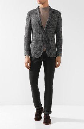 Однобортный пиджак в клетку Windsor темно-серый | Фото №1