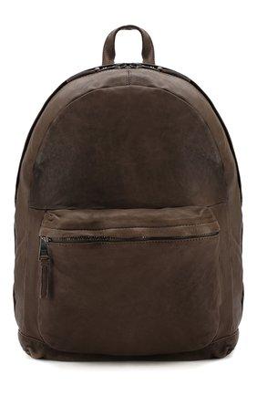 Кожаный рюкзак с эффектом крэш | Фото №1