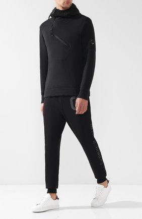 Хлопковое худи с декоративной отделкой C.P. Company черный | Фото №1