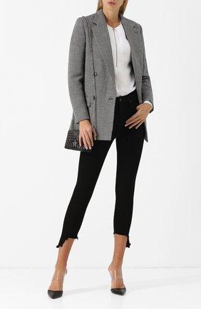 Укороченные однотонные джинсы-скинни | Фото №2