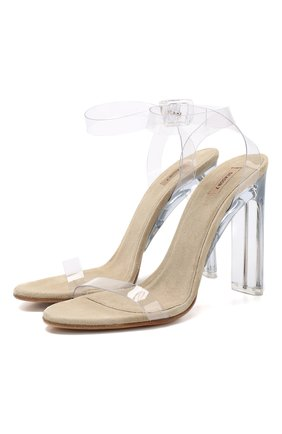 Прозрачные босоножки на устойчивом каблуке   Фото №1