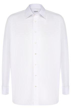 Мужская хлопковая сорочка с воротником кент ZILLI белого цвета, арт. MFQ-MERCU-46203/RZ01 | Фото 1