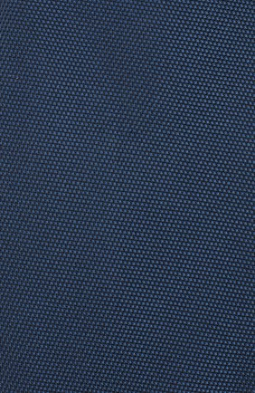 Шелковый галстук Isaia темно-синего цвета | Фото №3