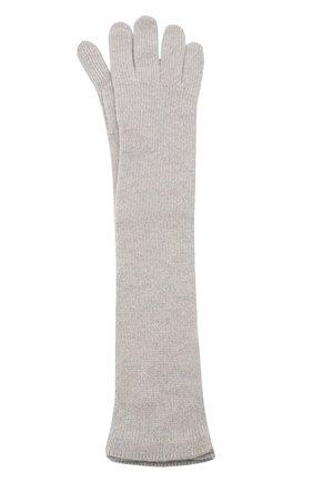 Удлиненные кашемировые перчатки | Фото №1