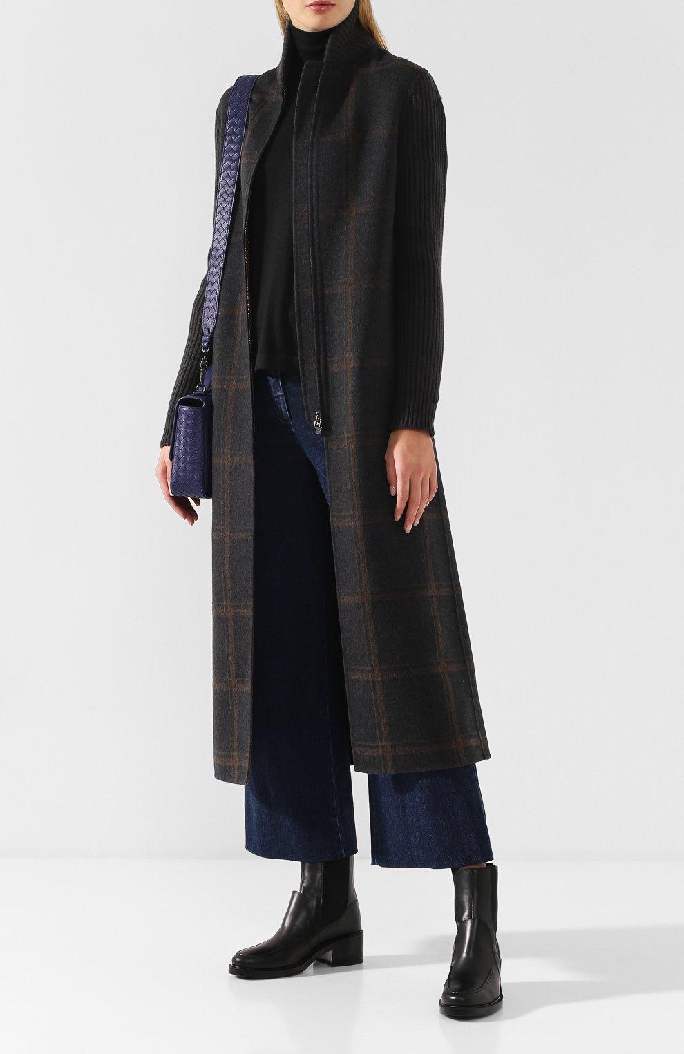 Женское кашемировое пальто на молнии LORO PIANA темно-серого цвета, арт. FAI2068   Фото 2